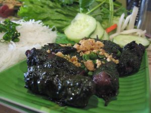 Grilled Beef in Betel Leaf